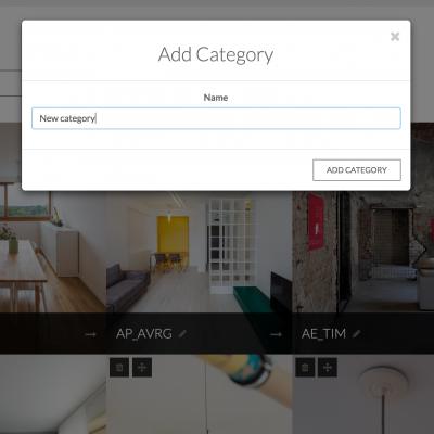 Categorii și proiecte actualizabile