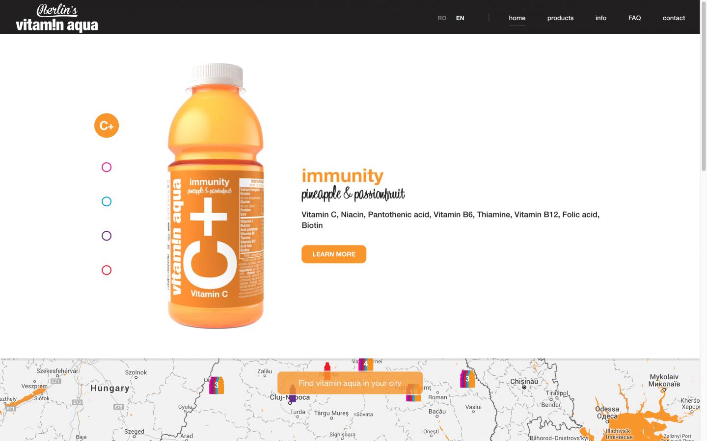 Portfolio Dynamic Website Vitamin Aqua Zefiro